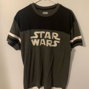 Star Wars men's large T-shirt black and gray